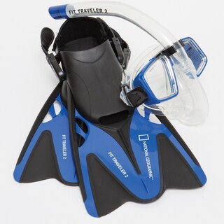 National Geographic Snorkeler Fit Traveler2 Combo (Option: Blue, S/M)