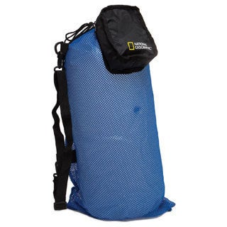 National Geo Clamshell Mesh Drawstring 2 Pocket Duffle