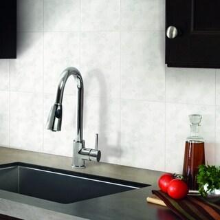 SomerTile 10x15.875-inch Scorpi Blanco Ceramic Wall Tile (Case of 18)