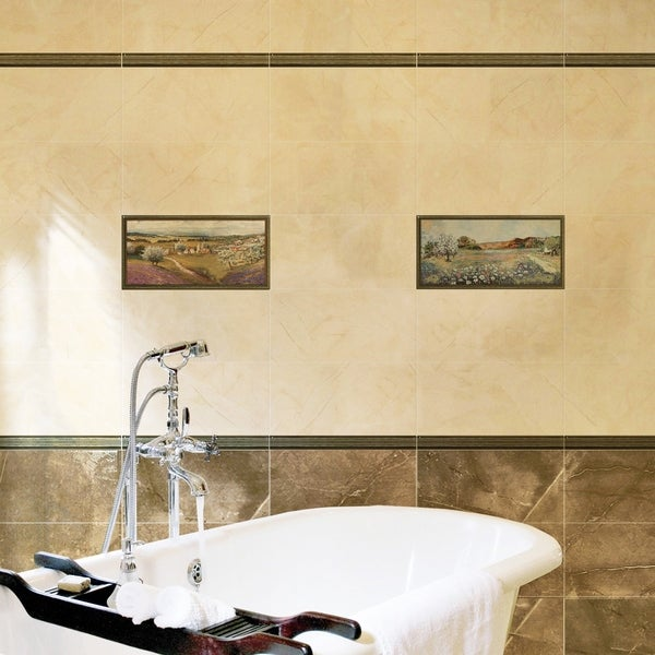 SomerTile 9.875x19.625-inch Campagna Noce Decor Ceramic Wall Tile ...