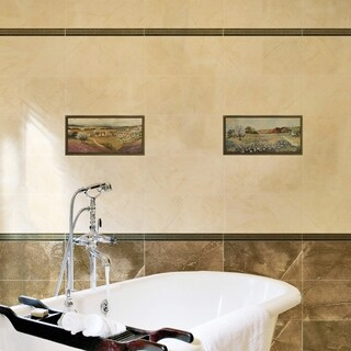 SomerTile 9.875x19.625-inch Claude Noce Decor Ceramic Wall Tile