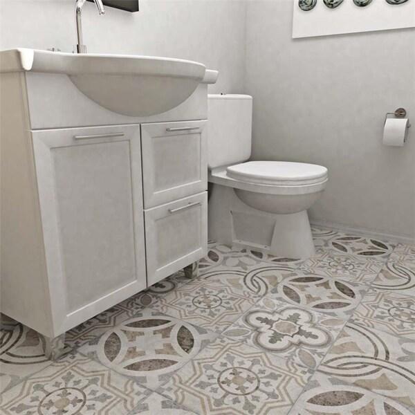 Somertile asturias decor jet mix for 13 inch ceramic floor tile
