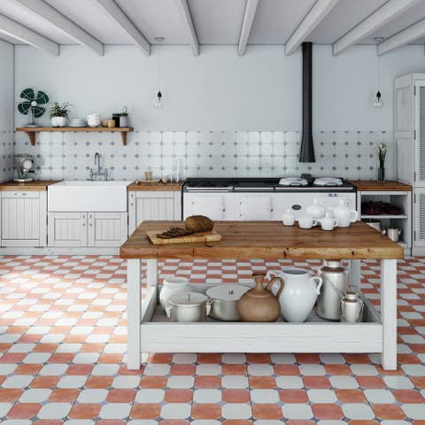 SomerTile 13.125x13.125-inch Huerta Jet Mix Ceramic Floor and Wall Tile (9 tiles/11.18 sqft.)