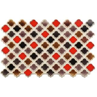 SomerTile 5.5x9-inch Ataurique Colore Porcelain Floor and Wall Tile (4 tiles/1.36 sqft.)