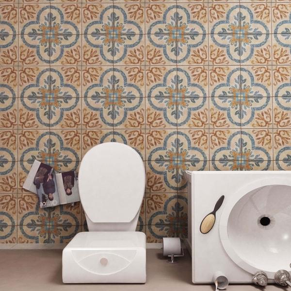 SomerTile 8.75x8.75-inch Americana Newton Porcelain Floor and Wall Tile (20 tiles/10.87 sqft.)