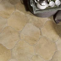 SomerTile 10.375x11.375-inch Fusio Provenzal Sand Porcelain Floor and Wall Tile (18 tiles/10.62 sqft.)
