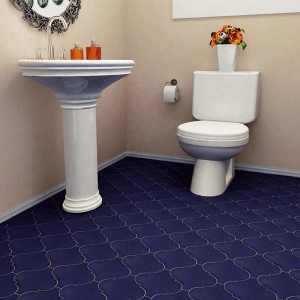 Somertile 8 x 8 inch francesco lantern bleu porcelain for 16 inch floor tiles