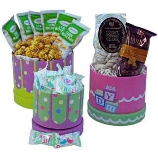 Congratulations Neutral Baby! Snacks and Treats Gift Tower