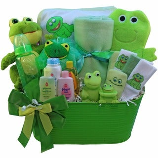 My Little Pollywog Bathtime Fun Boy or Girl Baby Gift Basket
