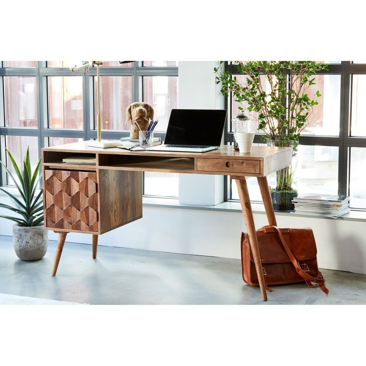 Image of: Shop Black Friday Deals On Aurelle Home Oslo Mid Century Modern Desk Overstock 10608352