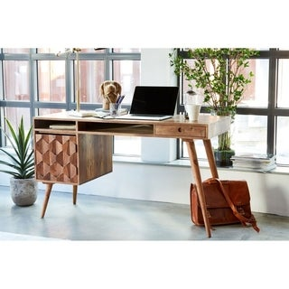 Aurelle Home Danielle Mid-century Modern Desk