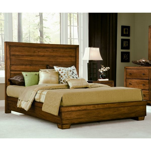 wood panel bed. Angelo Home Chelsea Park Solid Wood Panel Bed E