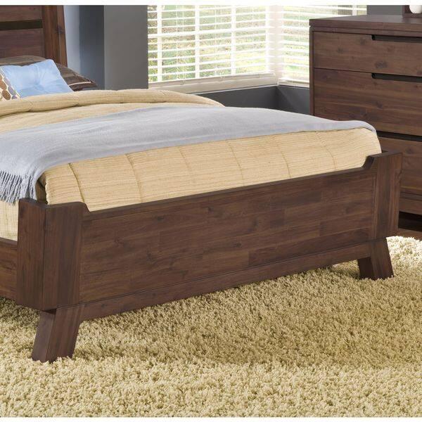 Shop Assymetrical Full Size Solid Wood Platform Bed Overstock 10608375 King King