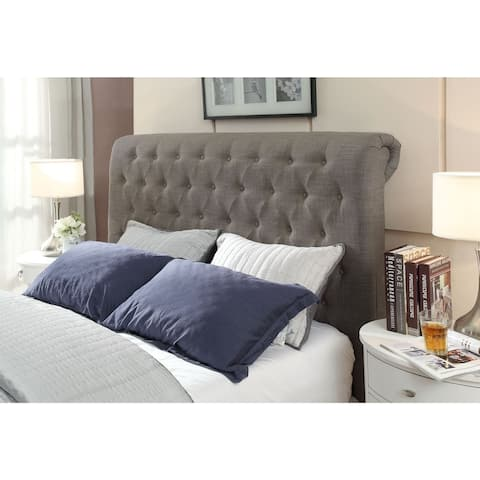 Royal Queen-size Tufted Linen Headboard