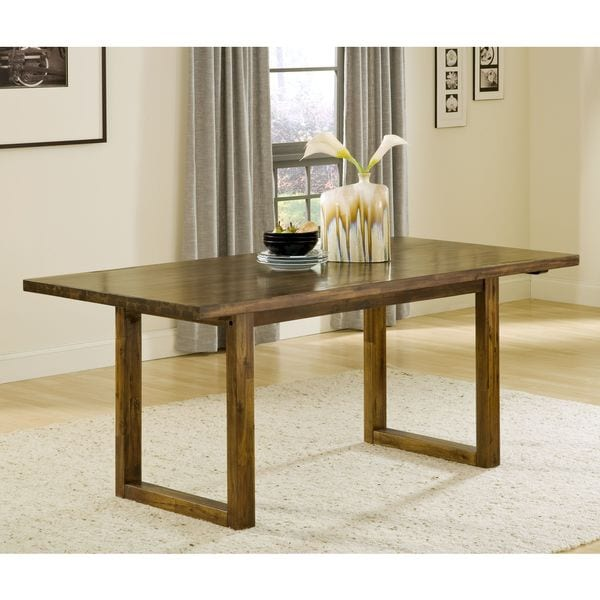 chunky solid wood dining table  free shipping today  overstock, Dining tables