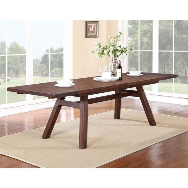 Solid Wood Modern Solid Wood Rectangular Extension Table