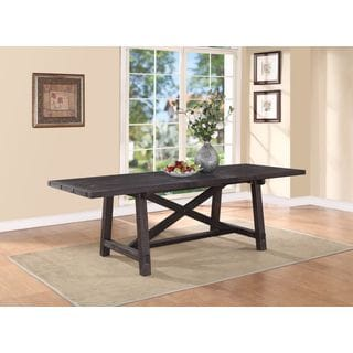 Industrial Solid Wood Rectangular Extension Table