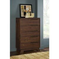 Asymmetrical Solid Wood Chest
