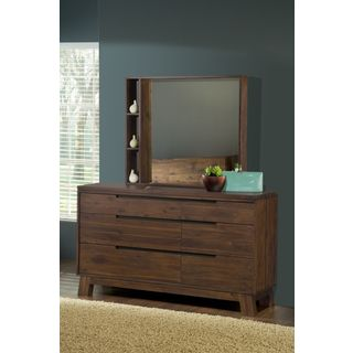 Asymmetrical Solid Wood 6-drawer Dresser