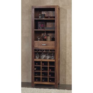 Sheesham Wood Rustic Wine Tower