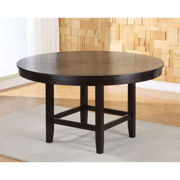 Legged pedestal 54 inch round dining table in dark for Dining room tables 54 inches long