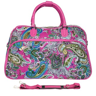 World Traveler Multi Paisley Pink 21-inch Carry On Satchel Duffle Bag