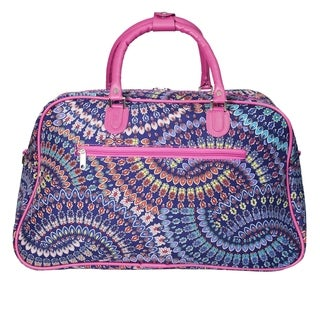 World Traveler Spiral 21-inch Carry On Satchel Duffle Bag