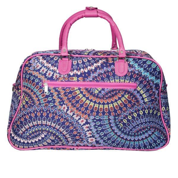 World Traveler Spiral 21-inch Carry On Satchel Duffle Bag - Free ...