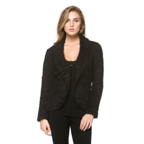 High Secret Women's Long Sleeve Fluffy Cardigan