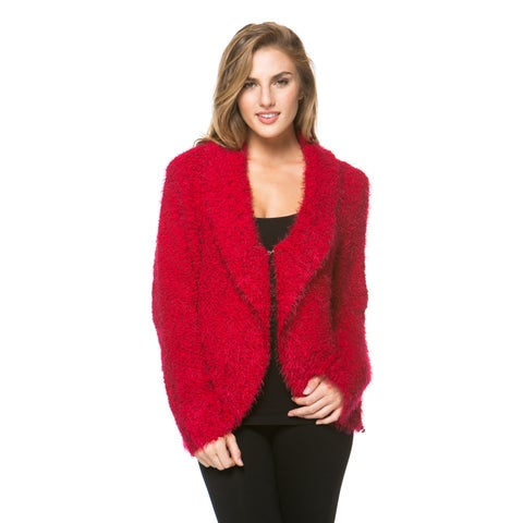 High Secret Women's Long Sleeve Fluffy Cardigan