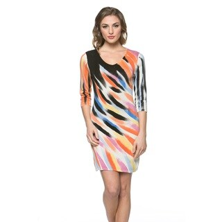 High Secret Women's Hand-painted Black Watercolors Bodycon Dress (4 options available)