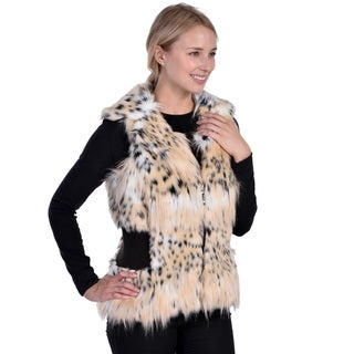 Women's Bobcat Faux Fur Vest