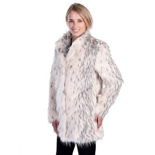Nuage Women's Lynx Faux Fur Coat