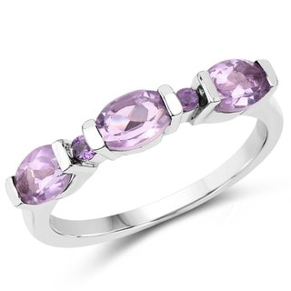 Olivia Leone Sterling Silver 1 3/8ct Amethyst Ring