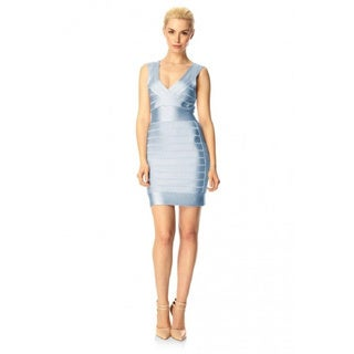 French Connection Heather Blue Spotlight Sleeveless Stretch Bodycon Dress