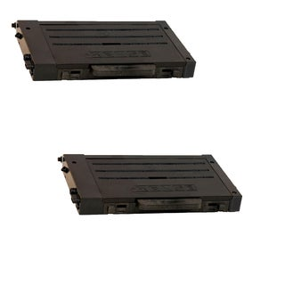 2PK Compatible CLP-500D7K Black Toner Cartridge For Samsung CLP-500 (Pack of 2)