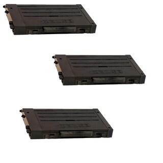 3PK Compatible CLP-500D7K Black Toner Cartridge For Samsung CLP-500 (Pack of 3)