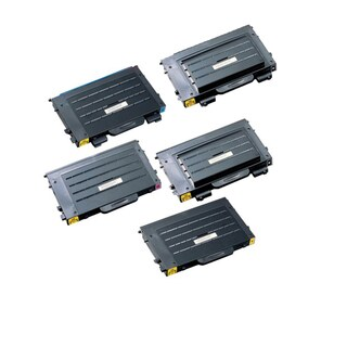 5PK Compatible 2 x CLP-500D7K + CLP-500D5C CLP-500D5M CLP-500D5Y Toner Cartridge For Samsung CLP-500 (Pack of 5)