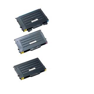 3PK Compatible CLP-500D5C CLP-500D5M CLP-500D5Y Toner Cartridge For Samsung CLP-500 (Pack of 3)