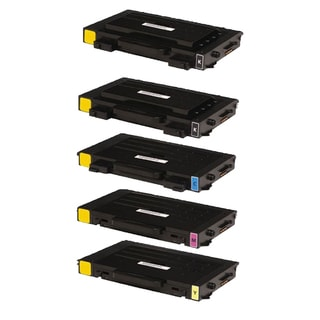 5PK Compatible 2 x CLP-510D7K + CLP-510D5C CLP-510D5Y CLP-510D5M Toner Cartridge For Samsung CLP-510 (Pack of 5)