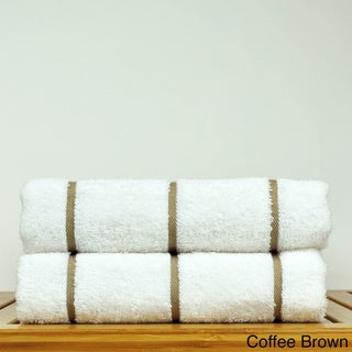 Luxury Hotel & Spa Towel 100-percent Genuine Turkish Cotton Pool Beach Towels - Stripe (Set of 2)