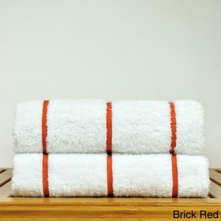 Luxury Hotel & Spa Towel 100-percent Genuine Turkish Cotton Pool Beach Towels - Stripe (Set of 2)