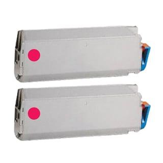 2PK Compatible 41515206 Magenta Toner Cartridge For Okidata C9400dxn C9400 (Pack of 2)