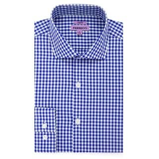 Link to Ferrecci Men's Slim Fit Blue/White/Red Cotton Gingham Check Casual Dress Shirt Similar Items in Shirts