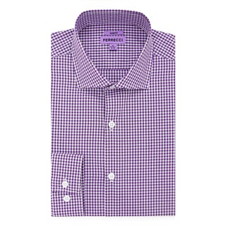 Ferrecci Men's Slim Fit Cotton Gingham Check Casual Dress Shirt (More options available)