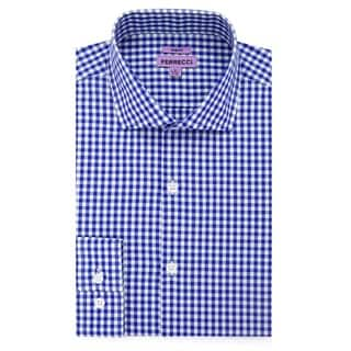 Ferrecci Men's Slim Fit Cotton Gingham Check Casual Dress Shirt|https://ak1.ostkcdn.com/images/products/10608979/P17680555.jpg?impolicy=medium