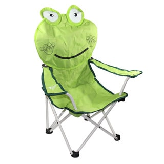 30-inch Happy Frog Children's Folding Chair with Armrest