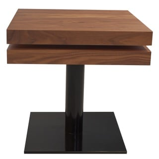End Table with Two Supperposed Swivel Layers