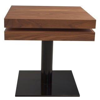 Nice End Table With Two Supperposed Swivel Layers