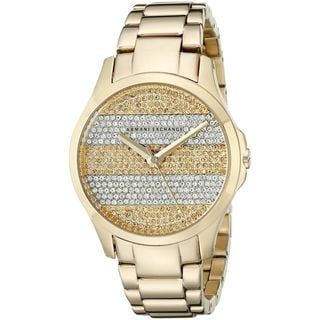 Armani Exchange Women's AX5242 'Smart' Crystal Gold-Tone Stainless Steel Watch